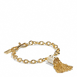 COACH SINGLE TASSEL BRACELET - ONE COLOR - F96505