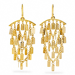 COACH LOZENGE CHANDELIER EARRINGS - ONE COLOR - F96506