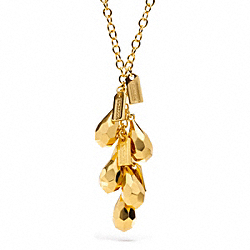 FACETED TEARDROP NECKLACE COACH F96510