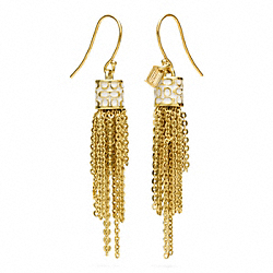 COACH TASSEL EARRINGS - ONE COLOR - F96511