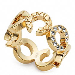 COACH PIERCED OP ART RING - ONE COLOR - F96516