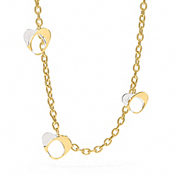 COACH POPPY SIGNATURE CHARM STATION NECKLACE - ONE COLOR - F96523