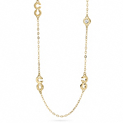 COACH OP ART STATION NECKLACE - ONE COLOR - F96526