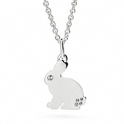 STERLING RABBIT NECKLACE COACH F96529
