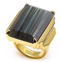 DECO COCKTAIL RING - f96531 - GOLD/GREEN