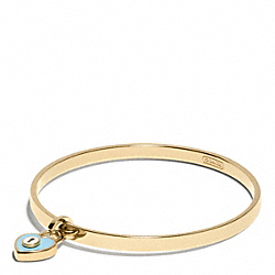 ENAMEL PADLOCK HEART BANGLE - f96536 - 30891