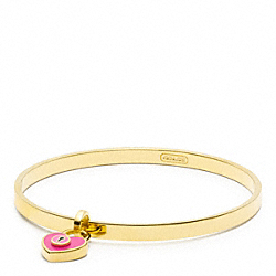 ENAMEL PADLOCK HEART BANGLE COACH F96536