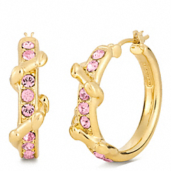 COACH PAVE VINE HOOP EARRINGS - ONE COLOR - F96540