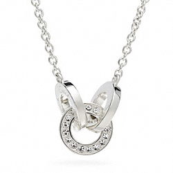 COACH STERLING TRIPLE LINK NECKLACE - ONE COLOR - F96551