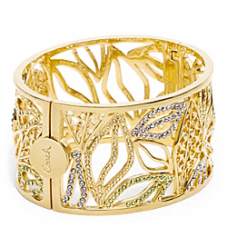 PAVE LEAF BANGLE COACH F96554