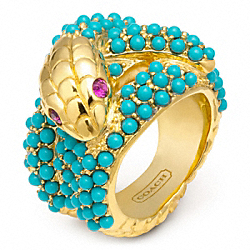 COACH PAVE SNAKE RING - ONE COLOR - F96555