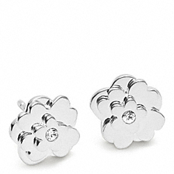 STERLING POPPY FLOWER STUD EARRING - f96556 - 13616