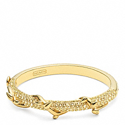 PAVE VINE HINGED BRACELET - f96558 - GOLD/YELLOW