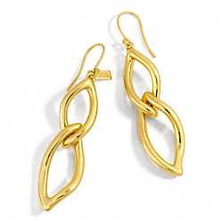 LEAF CHAIN EARRINGS - f96579 - 13625