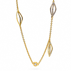 COACH LEAF STATION NECKLACE - ONE COLOR - F96583