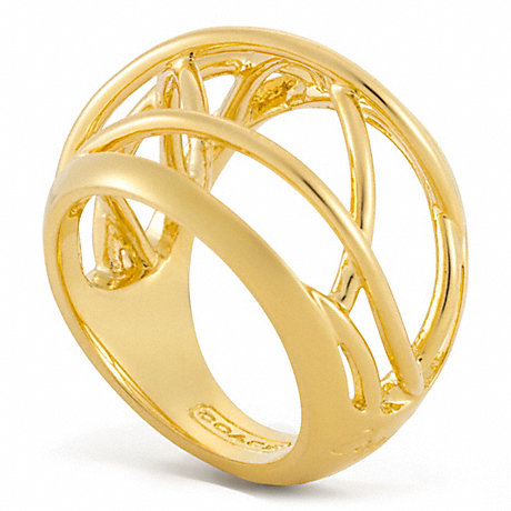 COACH WIRE DOMED RING -  - f96590