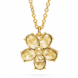 COACH GARDEN FLOWER PENDANT NECKLACE - GOLD/GOLD - F96597