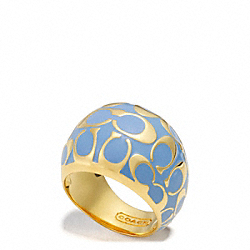 COACH MIRANDA ENAMEL DOMED RING - ONE COLOR - F96603