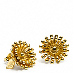COACH FLOWER STUD EARRING - ONE COLOR - F96604