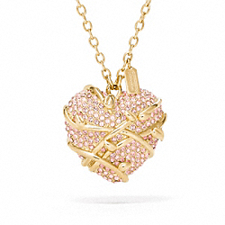 COACH PAVE HEART VINE NECKLACE - ONE COLOR - F96607