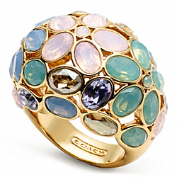 GARDEN FLOWER DOMED RING - f96609 - 19130