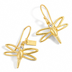 COACH WIRE DRAGONFLY EARRINGS - ONE COLOR - F96611