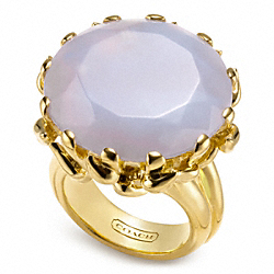 COACH ROUND STONE VINE RING - ONE COLOR - F96617
