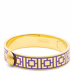 COACH HALF INCH HINGED GEOMETRIC BANGLE - GOLD/PURPLE - F96619