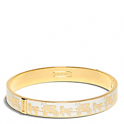HALF INCH HORSE AND CARRIAGE BANGLE COACH F96623