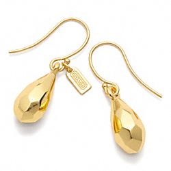 FACETED TEARDROP EARRING COACH F96636