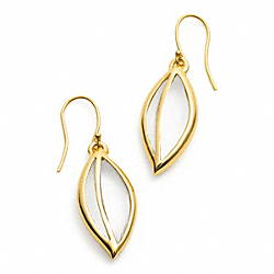 GLASS LEAF EARRING - f96637 - 13634