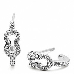 SMALL PAVE OP ART EARRING - f96638 - 20051