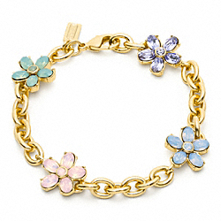 COACH GLASS FLOWER BRACELET - ONE COLOR - F96639
