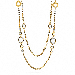 COACH DOUBLE STRAND GLASS STATION NECKLACE - ONE COLOR - F96664