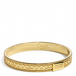 COACH THIN OP ART CHAIN BANGLE - ONE COLOR - F96665