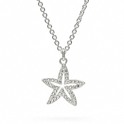 COACH STERLING PAVE STARFISH NECKLACE - ONE COLOR - F96674