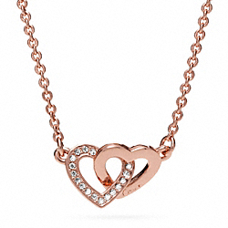 COACH INTERLOCKING HEART NECKLACE - ONE COLOR - F96675