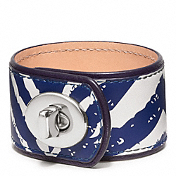 COACH ZEBRA TURNLOCK BRACELET - ONE COLOR - F96679
