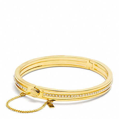 COACH PEARL HINGED BANGLE -  - f96688