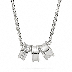 COACH STERLING SMALL RONDELLE NECKLACE - ONE COLOR - F96693