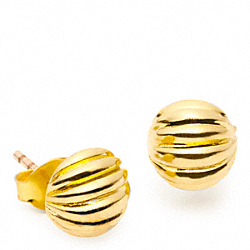 RIBBED STUD EARRINGS COACH F96694