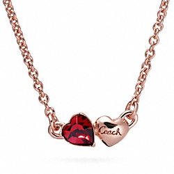 COACH DOUBLE HEART NECKLACE - ONE COLOR - F96704
