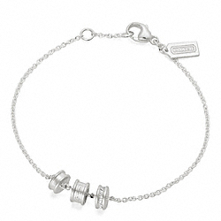 COACH STERLING SMALL RONDELLE BRACELET - ONE COLOR - F96710