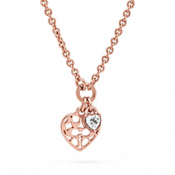 COACH MIRANDA HEART STONE NECKLACE - ONE COLOR - F96713