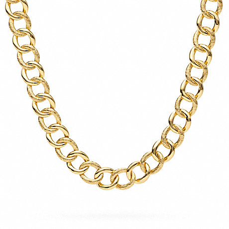 COACH SIGNATURE C CURB CHAIN LINK NECKLACE -  - f96717