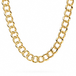 COACH SIGNATURE C CURB CHAIN LINK NECKLACE - ONE COLOR - F96717