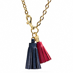 DOUBLE TASSEL NECKLACE - f96723 - 25783