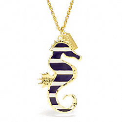 COACH ENAMEL SEAHORSE NECKLACE - ONE COLOR - F96737