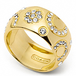 COACH PAVE BUBBLE BAND RING - ONE COLOR - F96750