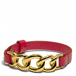 COACH CHAIN LEATHER BRACELET - ONE COLOR - F96761